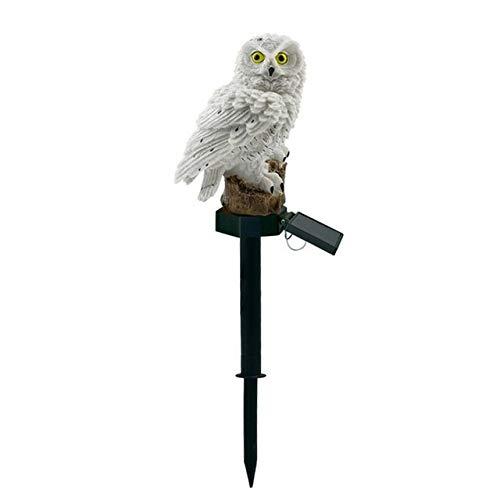 L.J.JZDY Solar Lights Solar Light Outdoors Garden Solar Lamp Owl Ornament Animal Bird Yard Outdoor Solar Lights Lamps (Color : Metallic, Size : One Size)