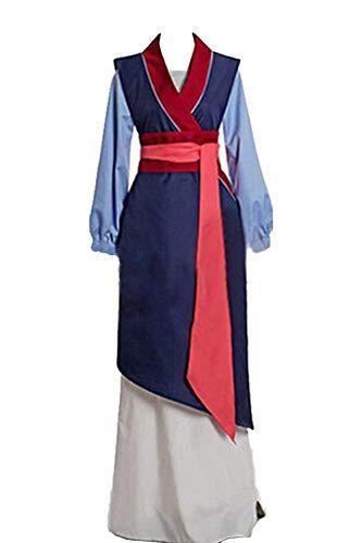 lancoszp Mujer Disfraz de Princesa China Carnaval Halloween Traje Chino Antiguo Vestido de Superheroe, L