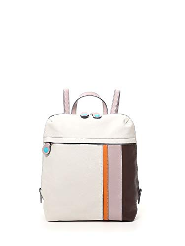 GABS Diva M Zaino in Pelle Soft Basic Multicolore Bianco Donna 31x28x13 cm