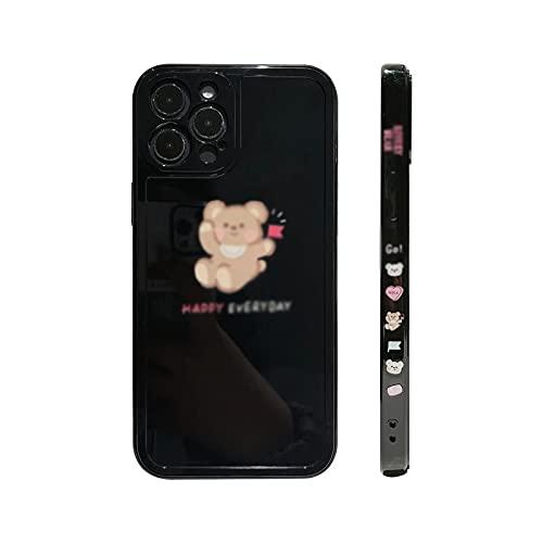 KJRJA para iPhone 11 Pro MAX 7 8 Plus XS MAX X XR 12 Mini Silicona Linda Bandera de Cuentas de Dibujos Animados Cubierta de La Caja del Teléfono Capa Pareja Shell,A-ForiPhone11