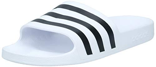 adidas Unisex-Erwachsene Adilette Aqua Badeschuhe, Weiß (Footwear White/Core Black/Footwear White 0), 46 EU