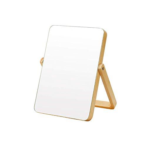 LCZ Maquillaje Oficina del Espejo del Espejo Individual Espejo De Baño De Madera Sólida Mesa De Espejo Plegable Portátil De Madera De Alta Definición