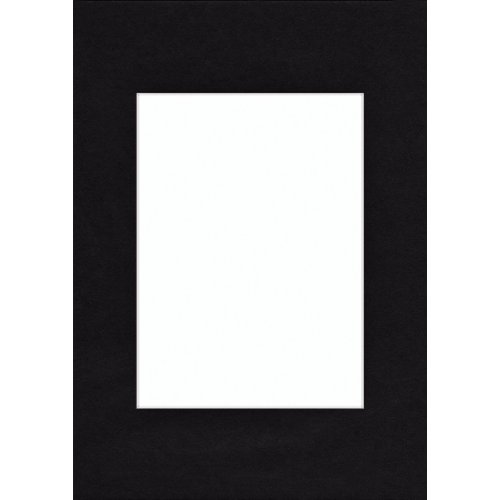 Hama Passe-partout (premium, dimensions : Extérieur : 13 cm x 18 cm / Intérieur : 9 cm x 13 cm) Noir Profond