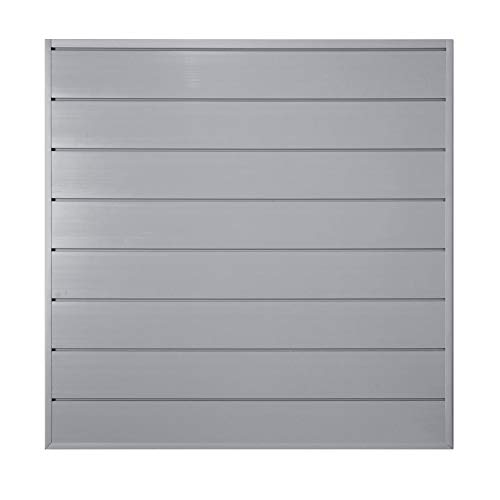 Crownwall PVC Slat Wall Panels Garage Wall Organizer Storage System   Heavy Duty Organization and Easy Installation   6 Inch - 4ft by 4ft (16 sqft) Section, Graphite