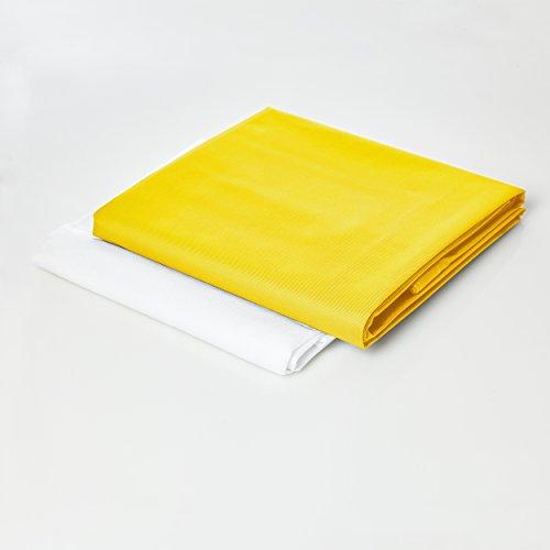 Lumaland Funda de Cojines en algodón para PUF otomano Maxi Almohada XXL 140 x 180 cm Puff Indoor en algodón Amarilla