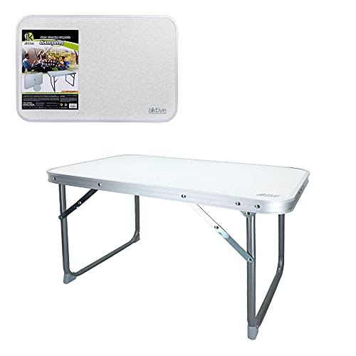 AKTIVE 52836 - Mesa plegable baja 60x40x40 cm AKTIVE Camping blanca