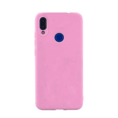 cuzz Funda para Samsung Galaxy A30+{Protector de Pantalla de Vidrio Templado} Carcasa Silicona Suave Gel Rasguño y Resistente Teléfono Móvil Cover-Rosa Oscuro
