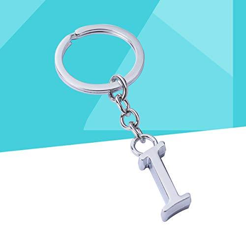 Toyandona Buchstaben-Schlüsselanhänger aus Legierung für Autos, Handtaschen, Telefon, Buchstabe I