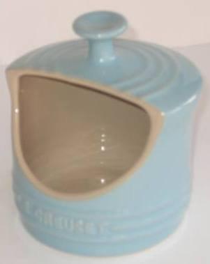 Le Creuset Cerdo de sal de gres, azul satinado, 0,3 litros