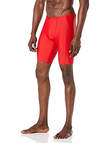 Amazon Essentials Men's Swim Jammer, Red, Medium