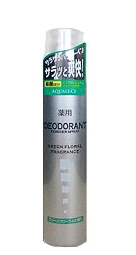 ピルファー拮抗する鋸歯状アクアルーチェ 薬用デオドラントスプレー グリーンフローラルの香り 205g