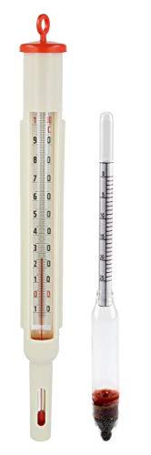 Lantelme 5677 Inmaakthermometer, zout, lakopmonsterset, ketelthermometer, vlees, slagerei, eenmak, pekel, thermometer