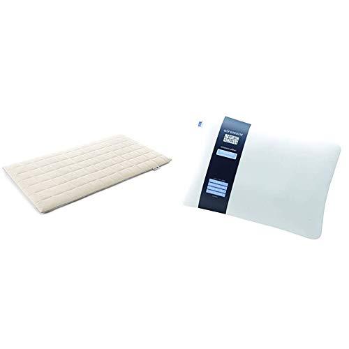 エアウィーヴ マットレスパッド ホワイト シングル 1-82011-1 & 枕 高さ・硬さ調整可能 ピロー スタンダード【セット買い】