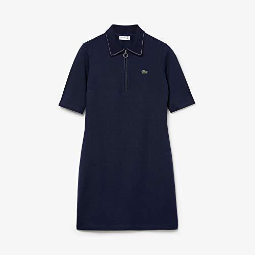 Lacoste Damen EF2299 Robe, Marine/Blanc, 38