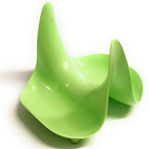 Berossi Topfdeckelhalter Halter für Topfdeckel Deckelhalter | Deckelständer Halter für Küchenutensilien Kochlöffel Ablage Löffelhalter | Ständer mit Ablagefunktion für Deckel Utensilien grün