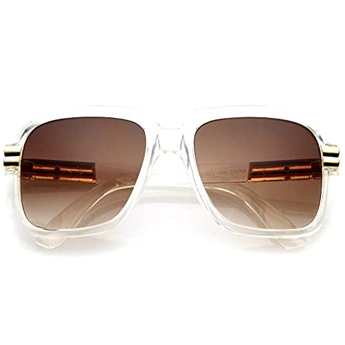 KISS Gafas de sol OLD SCHOOL mod. RUN-DMC - hombre mujer HIP-HOP rapero vintage FREESTYLE - CRYSTAL V1