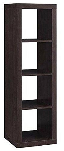 Officesaleman Better Homes and Gardens 4-Cube Organizer Storage Bookcase Bookshelf, (Espresso, 1)