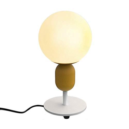WZHZJ Lámpara de Mesa - Diseño Creativo Moderno Niños Niñas Sitio de la Tabla de la lámpara de la Sala Dormitorio lámpara de cabecera, mesita de Noche de la lámpara de Cristal esférica (Color : C)