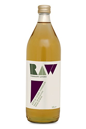 Raw Vibrant Living Organic Apple Cider Vinegar Unfiltered with the Mother 1 Litre