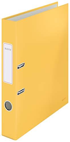Leitz Qualitäts-Ordner, 350 Blatt, 50mm Rückenbreite, Warmes Gelb, A4, Cosy-Serie, 10620019