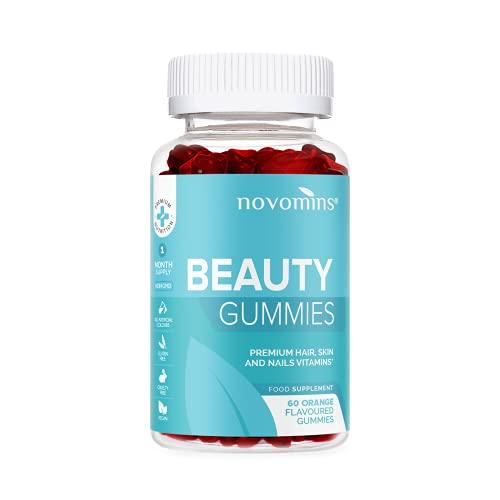 Suplemento de Biotina para el Cabello – Gominolas de Biotina de Alta Potencia - 60 Gominolas de Vitaminas y Biotina – Favorece el Crecimiento de Cabello, Piel y Uñas - Fabricado en UK por Novomins