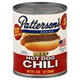 Hot Dog Chili By Pattersons - Original Recipe Since 1942 - Great on Hamburgers Too