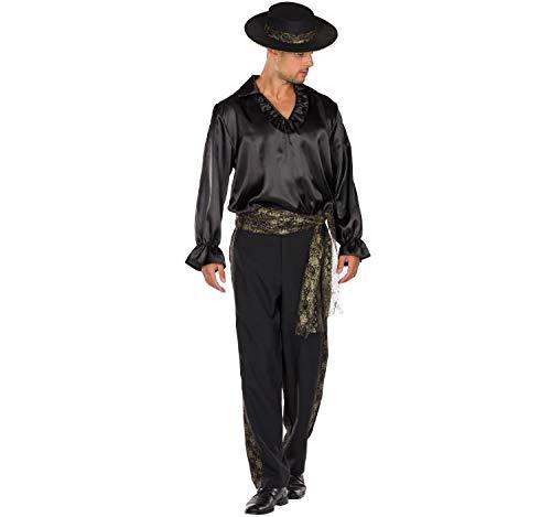 Rubie's Herren Kostüm Spanier Flamenco-Tänzer Mariachi Don Miguel schwarz Fasching (56)
