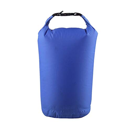 Bolsa impermeable impermeable para camping, barco, kayak, rafting, 10 l, color azul
