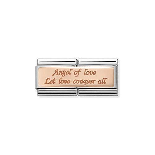 Charm Nomination aus Stahl und Roségold - Composable - 430710/11