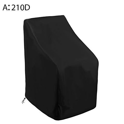 SNIIA Schutzhülle für Gartenstühle Wasserdichtes Atmungsaktives Oxford-Gewebe Stapelstühle/Gartenstuhl Abdeckung - 120x65x65x80cm Schwarz