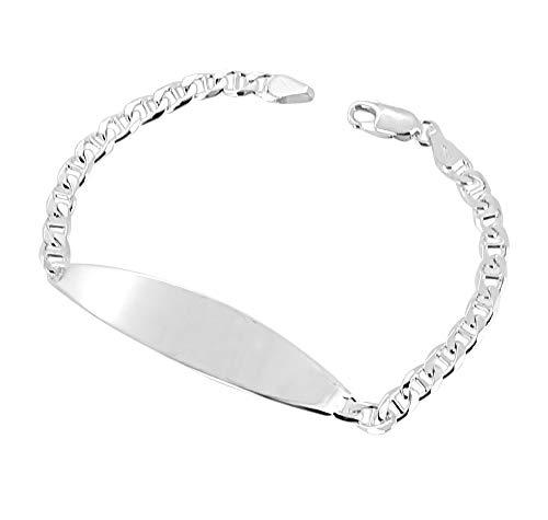 Herren massiv 925 Sterlingsilber Bar Kette Armband