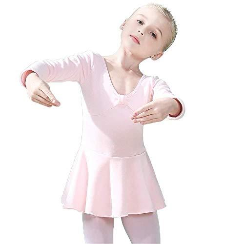 Mooie Dans Rok Roze Plus Fluwelen Dikke Dans Kleding Ballet Rok Winter Lange mouwen Praktijk Kleding Herfst en Winter Meisjes Mode