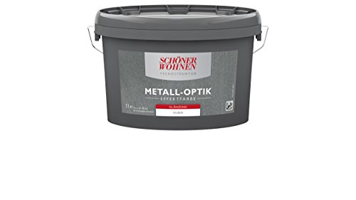 Trendstruktur Metall-Optik glänzend silber 1L