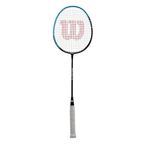 Wilson Raquette de Badminton Reaction 70, Unisexe, Équilibrée en Tête, Noir/Bleu, WR042010H4