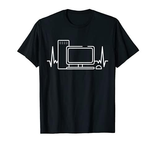 PC Gamer Herzschlag T-Shirt Videospiel...