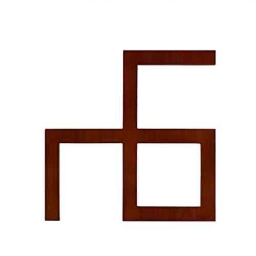 GRFH Apliques de Madera Tallada Estilo Chino Material de Madera de Caucho Simple Conveniente y práctico Adecuado para la decoración pasillos y dinteles de Puertas 40 * 40 * 1cm Mahogany Color