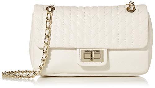 Karl Lagerfeld Paris Damen Agyness Pebble Shoulder Bag Umhängetasche, Winter-Weiß, Einheitsgröße