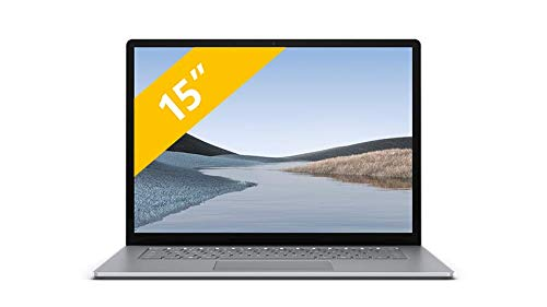 Microsoft Surface Laptop 3 15 8 GB RAM AMD Ryzen 5 3580U 256 GB SSD Platin QWERTY Tastatur