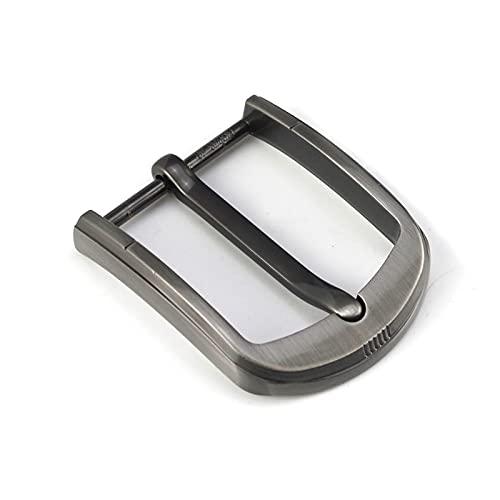 LJGFH Hebilla del cinturón 1 unids Metal 40mm Cinturón Hebilla Centro Medio Barra Pin Single Hebilla Cinturón de Cuero Bridle Halter Ajuste Ajuste para 37mm-39mm Cinturón Durable