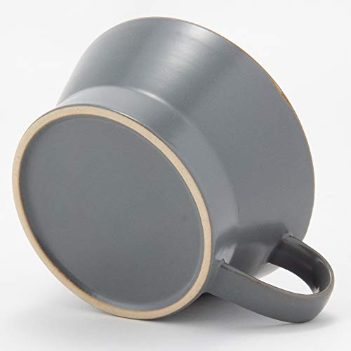 TAMAKIスープカップエッジライングレー直径12.3×奥行15.3×高さ6cm350ml電子レンジ・食洗機対応T-788394