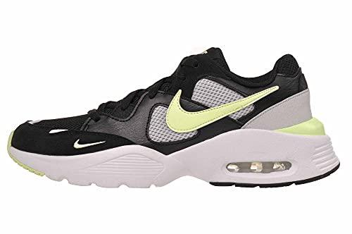 Nike WMNS Air Max Fusion da donna, bianco/nero, Nero (Bianco Appena Volt Nero), 42.5 EU