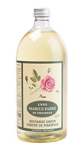Marius Fabre Savon d'Huile de recharge de parfum Rose 1L lsche Savon liquide série Herbier