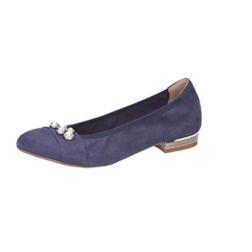 CAPRICE Damen Ballerinas Da.-Ballerina 9-9-22115-20/813 blau 414210