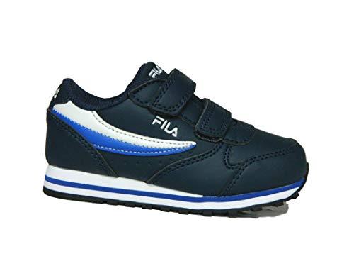 Fila Unisex-Baby Orbit Velcro Infants Sneaker, Dress Blue/Dazzling Blue