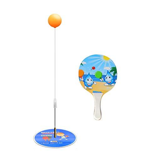 Camlis Dispositivo de Entrenamiento de Tenis de Eje Suave elástico, Arte de Entrenamiento de Tenis de Mesa, Raqueta para niños, Juguetes de Interior, hogar