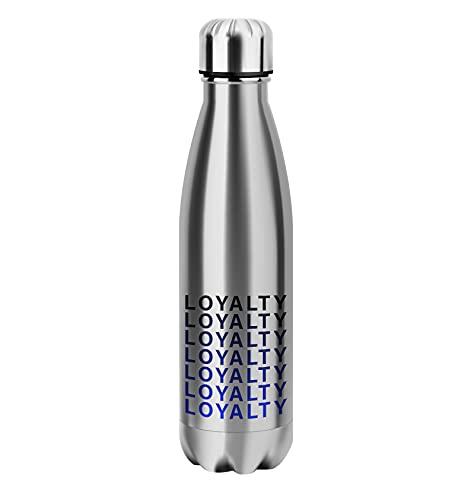 Loyalty Gradient Silver Bottle Bottle Acero Inoxidable para Termo Caliente y fría con Aislamiento 500ml Botellas Reutilizables Divertidos Deportes al Aire Libre Senderismo Gimnasio Bebida Frasco