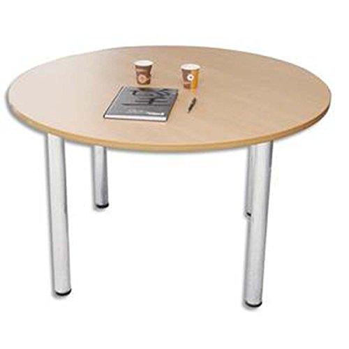 Table ronde diamètre 120 cm 4 pieds alu