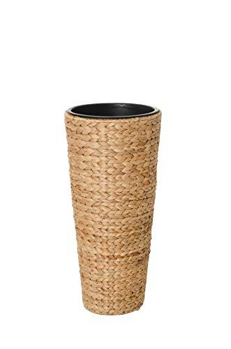 Vivanno Einzel Pflanzkübel Blumenkübel aus Wasserhyazinthe Classic Round 60 cm, Natur