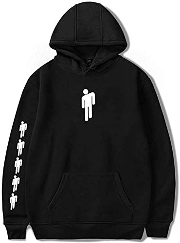 Womens Men Hoodies Hooded Pullover Cool Sweatshirts Sweater for Fan Support Hooded (Black, Small)