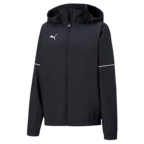 PUMA Jungen teamGOAL Rain Jacket Core Jr Trainingsjacke, Black/White, 164